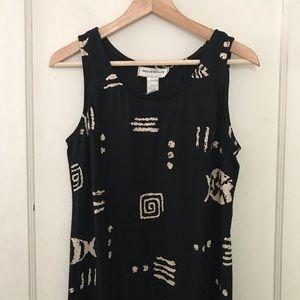 Vintage Molly Malloy Tribal Print Midi Tank Dress